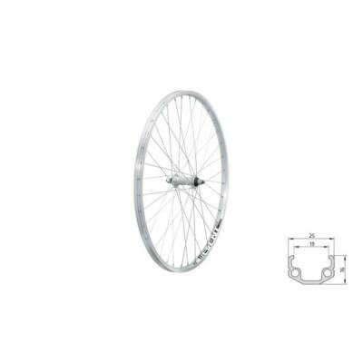 "Fűzött első kerék KLS EVENT F, 26"", silver"