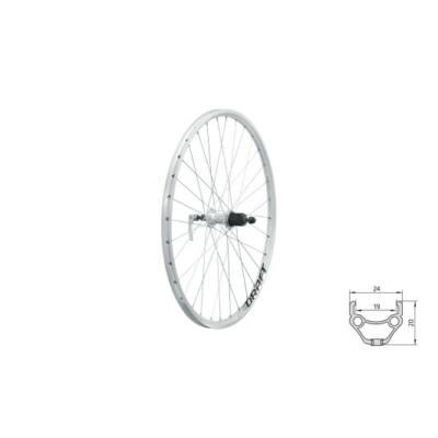 """Fűzött hátsó kerék KLS DRAFT R, 26"""", silver"""