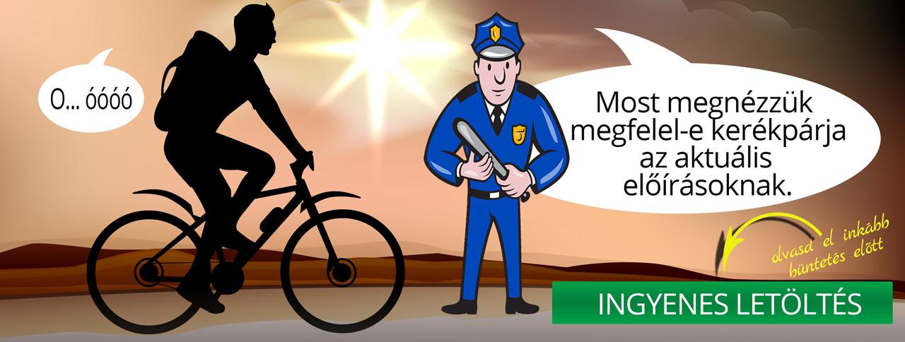 Kötelező tartozékok a kerékpáron és a kerékpároson